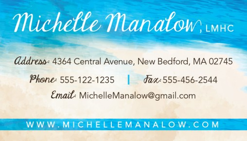 Mental Health Counselor Business Card (front)