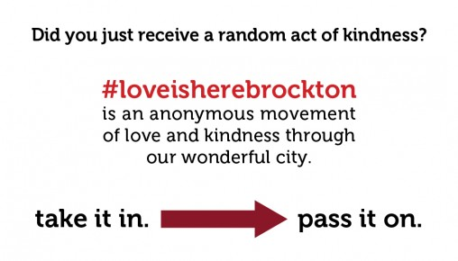 Love is Here Brockton (back)